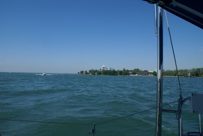 Ontario Place in background