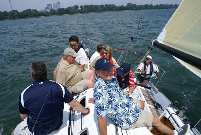 Tacking away from Toronto Island