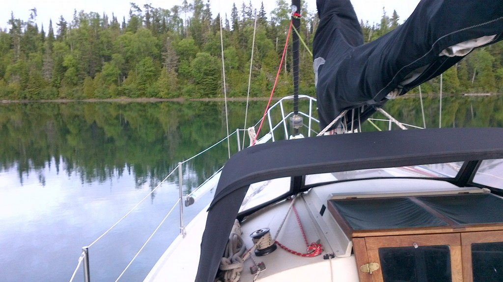 Anchored in Isle Royale. A beautiful harbour