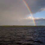 A rainbow over the Welcome Islands
